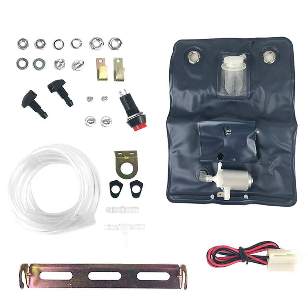 Kit lavavetri Universale per Parabrezza con Pompa da 12 Volt per Auto Abboard