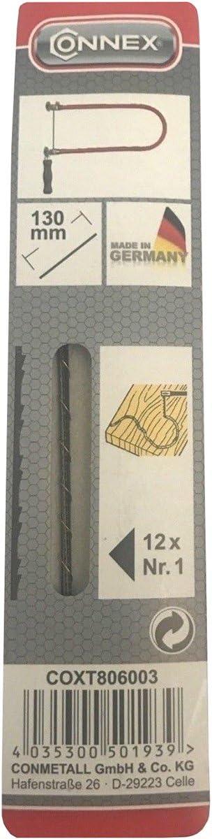 Connex 130 mm chantourner Lames de 24x 4 de chaque Nr.0 Nr.1 Nr.3 Nr.4 Nr.5 Nr.6 allemand