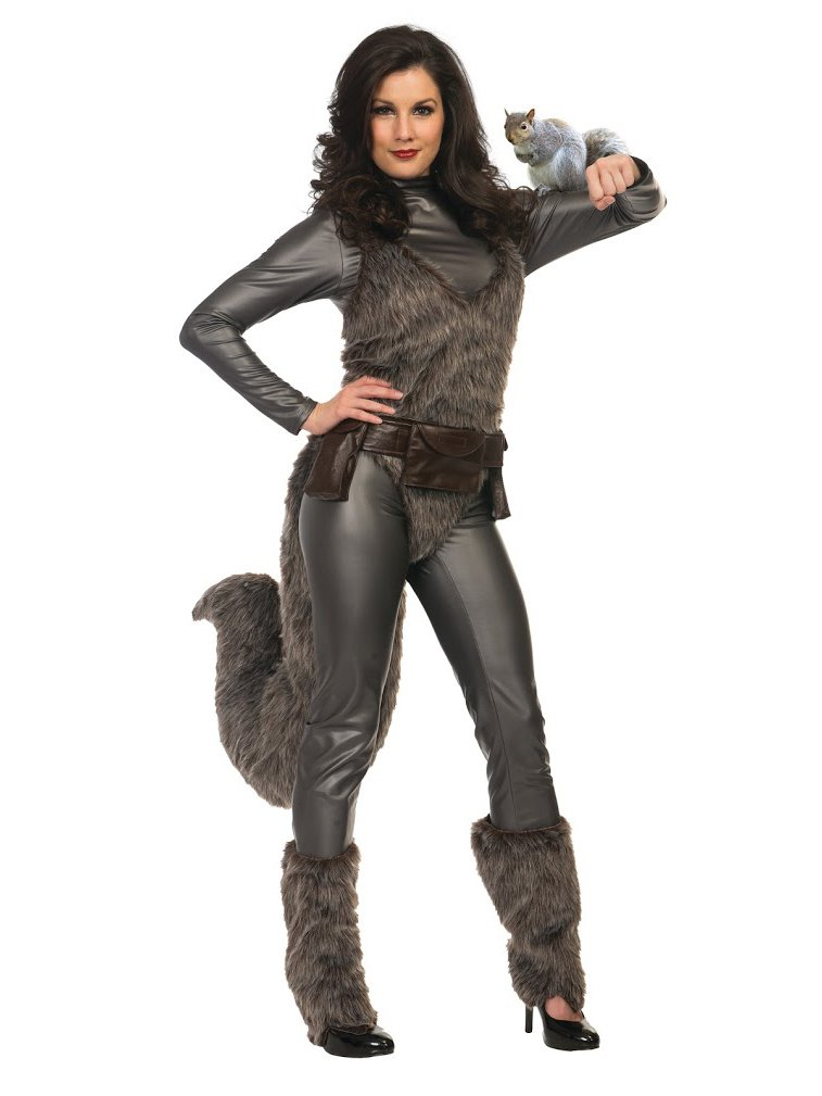 Charades Womens Premium Squirrel Girl Fancy Dress Costume Large