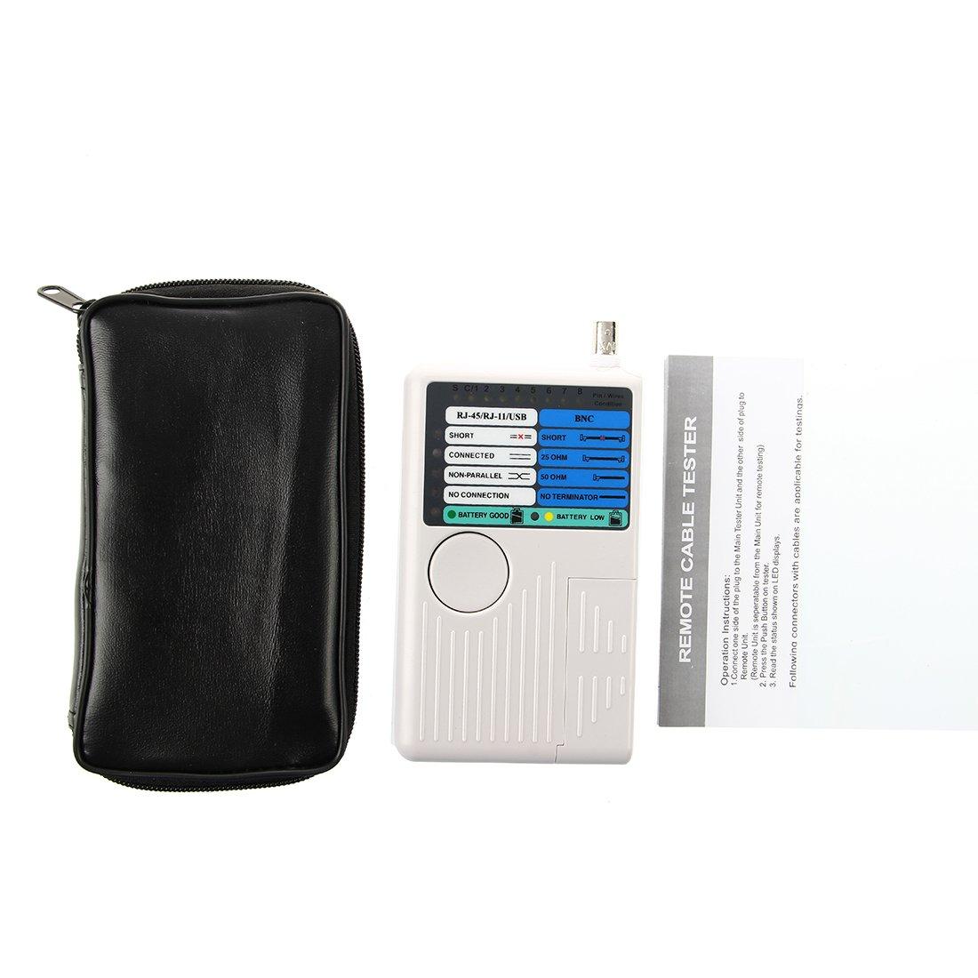 TOOGOO(R) Comprobador Tester Cable Red Telefono 4 en 1 RJ45 RJ11 USB Coaxial: Amazon.es: Electrónica