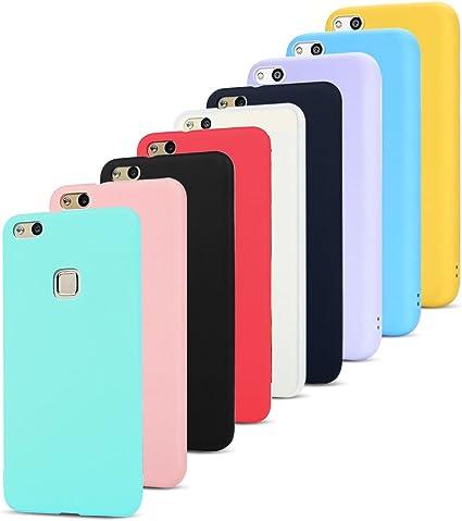 MoEvn 9X Custodia Huawei P10 Lite Cover, Ultra Slim Morbido in TPU Silicone Posteriore Case per Huawei P10 Lite Smartphone Opaco Gel Flessibile ...
