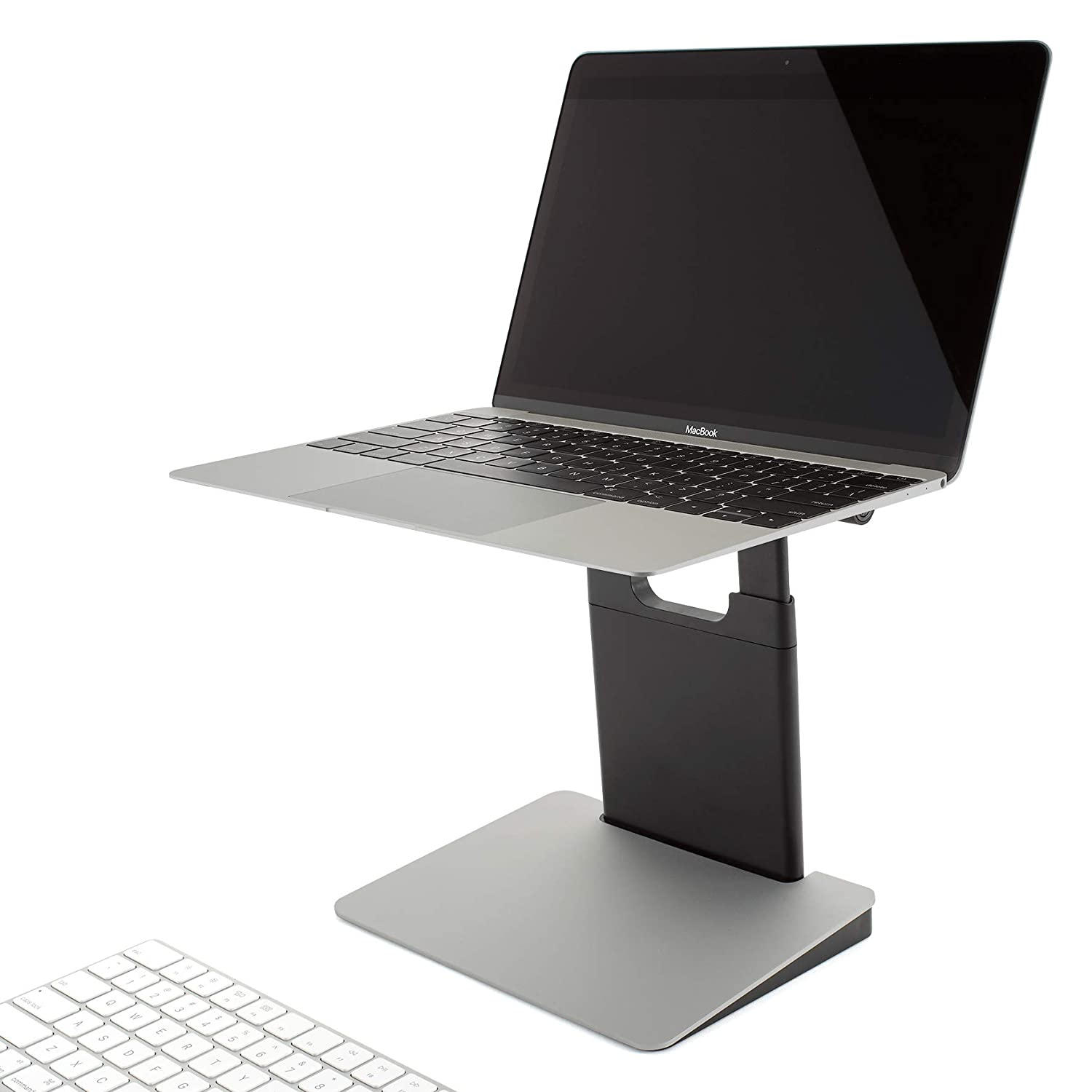"TINY TOWER Adjustable and Portable Laptop Stand. Foldable and Collapsible Holder and Riser. Compatible with All 11"", 13"" and 15"" laptops and notebooks."