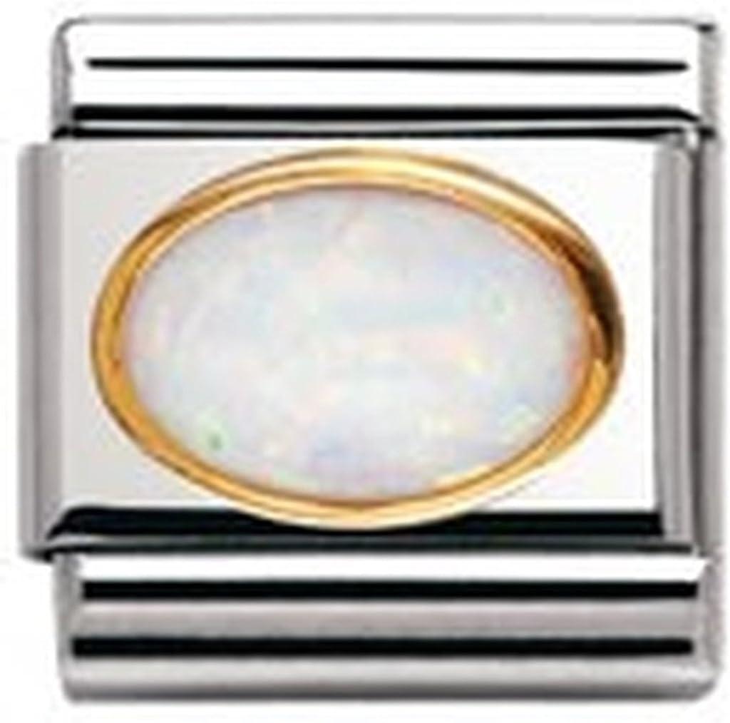030502 Acier inoxydable et Or jaune 18 cts Nomination Maillon pour bracelet composable Mixte
