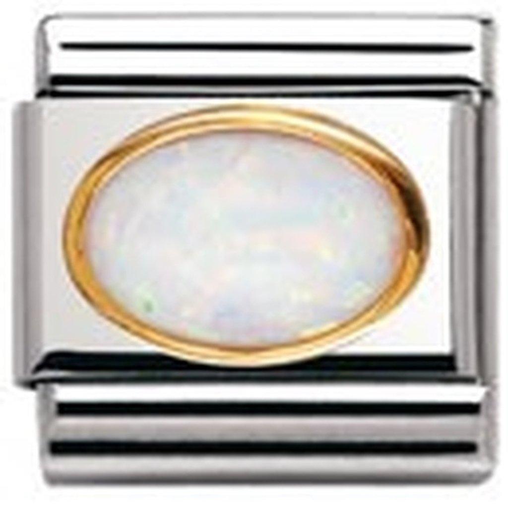 Nomination Maillon pour bracelet composable Mixte Acier inoxydable et Or jaune 18 cts 030502