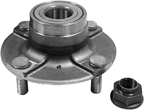 IRONTEK 512182 Rear Driver and Passenger Side Wheel Hub and Bearing Assembly for Suzuki Swift 1989-1994 1 PCS Replace for 512182 4 Lug w//o ABS