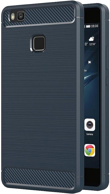 AICEK Funda Huawei P9 Lite, Azul Silicona Fundas para Huawei P9 Lite Carcasa P9 Lite Fibra de Carbono Funda Case (5,2 Pulgadas): Amazon.es: Electrónica
