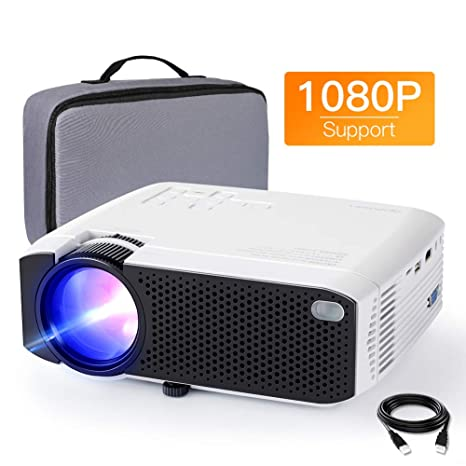 Proyector APEMAN mini proyector silencioso 1080P Full HD puede ...