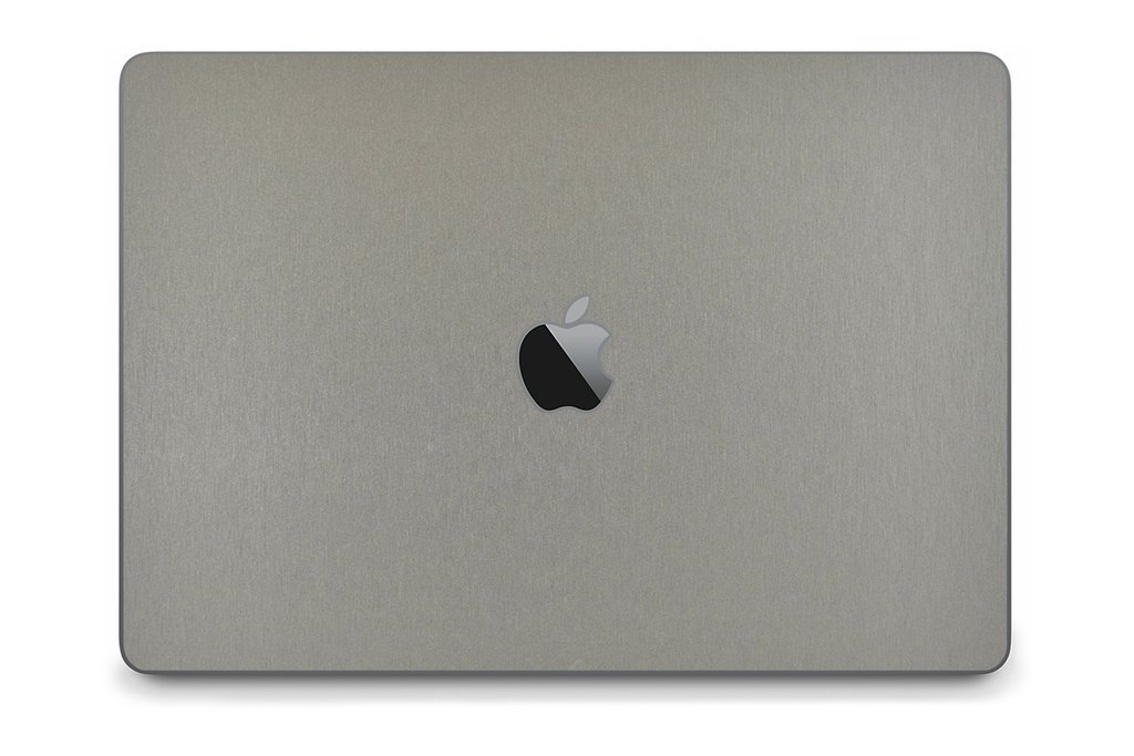 "iCarbons Brushed Titanium Skin Wrap for MacBook Pro 13"" (Late 2016-Current, With Touchbar) Full Combo"