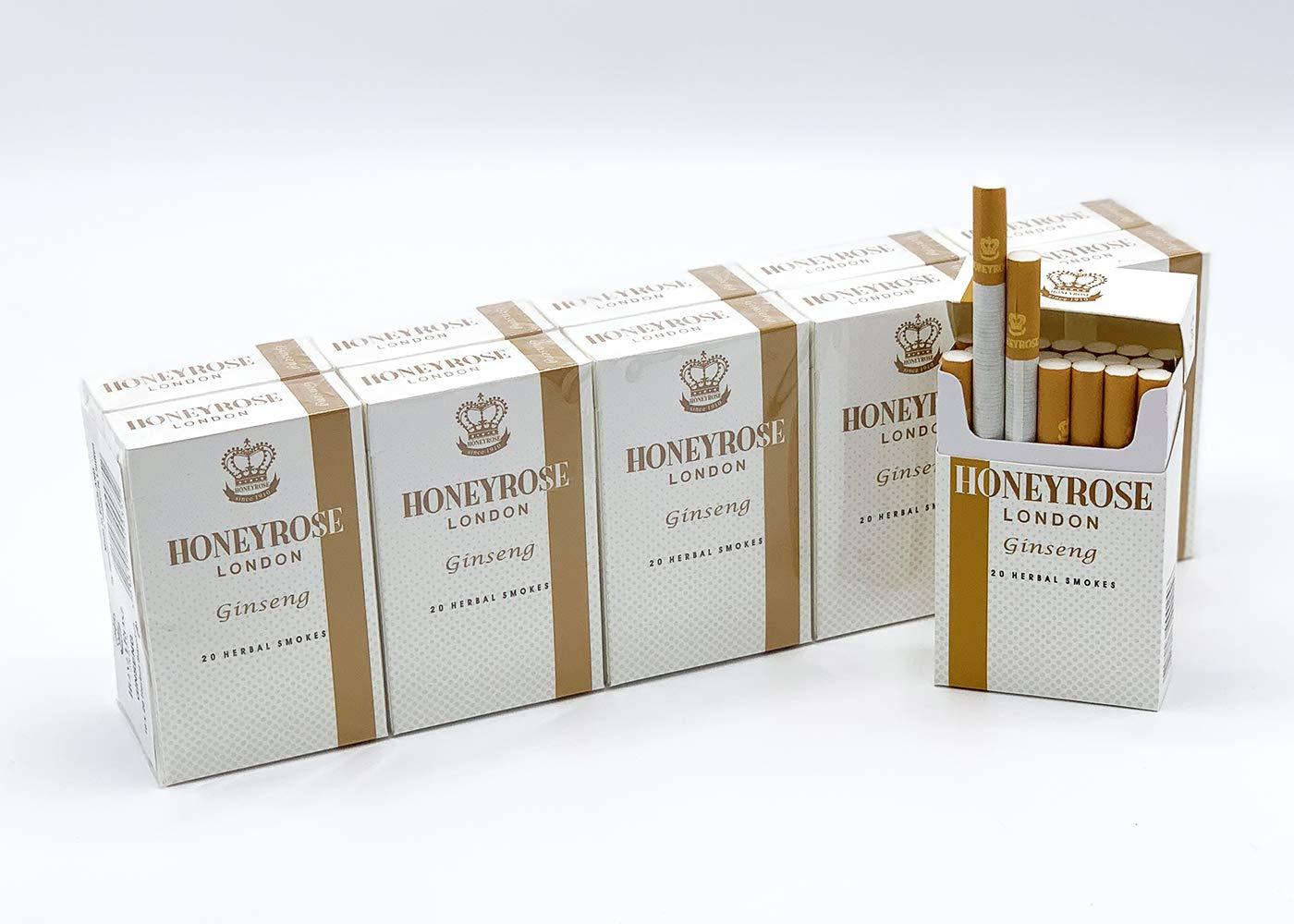 Honeyrose Ginseng - Tobacco & Nicotine Free Herbal Cigarettes