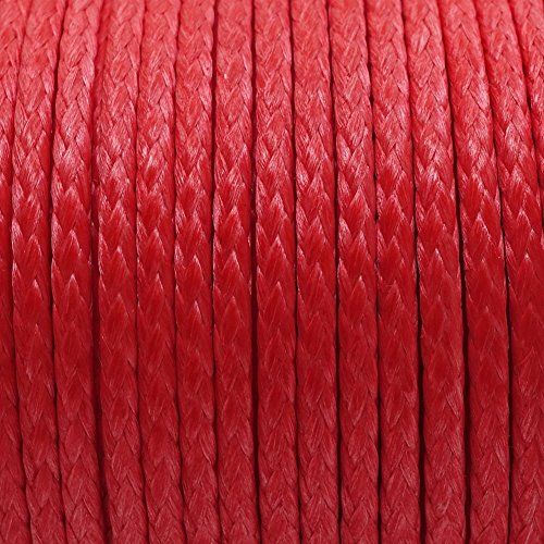emma kites Red UHMWPE Braided Cord High Strength Least Stretch Tent Tarp Rain Fly Guyline Hammock Ridgeline Suspension for Camping Hiking Backpacking Survival Recreational Marine Outdoors 100Ft 580Lb by emma kites (Image #3)