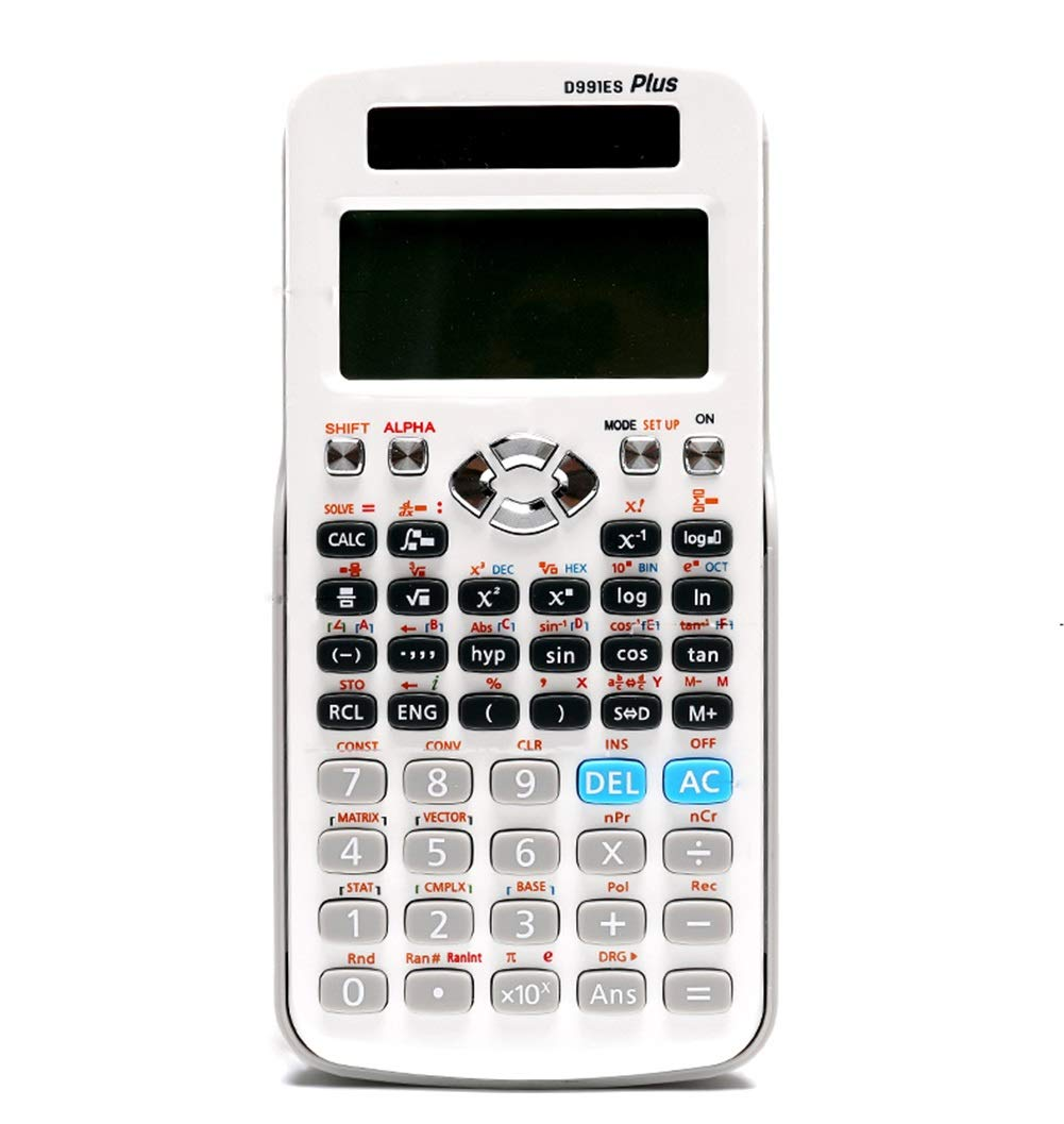 ZASEA Large-Screen Scientific Calculator Function Calculator Multi-Function Calculator 417 Functions Display 12-Digit Office for Study and Other Black and White (Color : White) by ZASEA