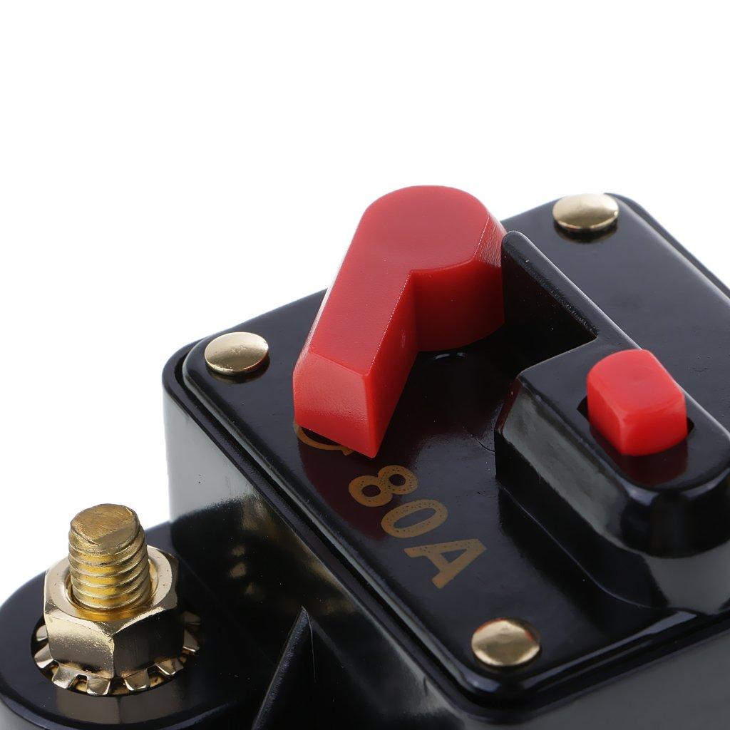 Baoblaze Automatiksicherungshalter Sicherungshalter KFZ Auto Automat 12V 24V 32V 70A