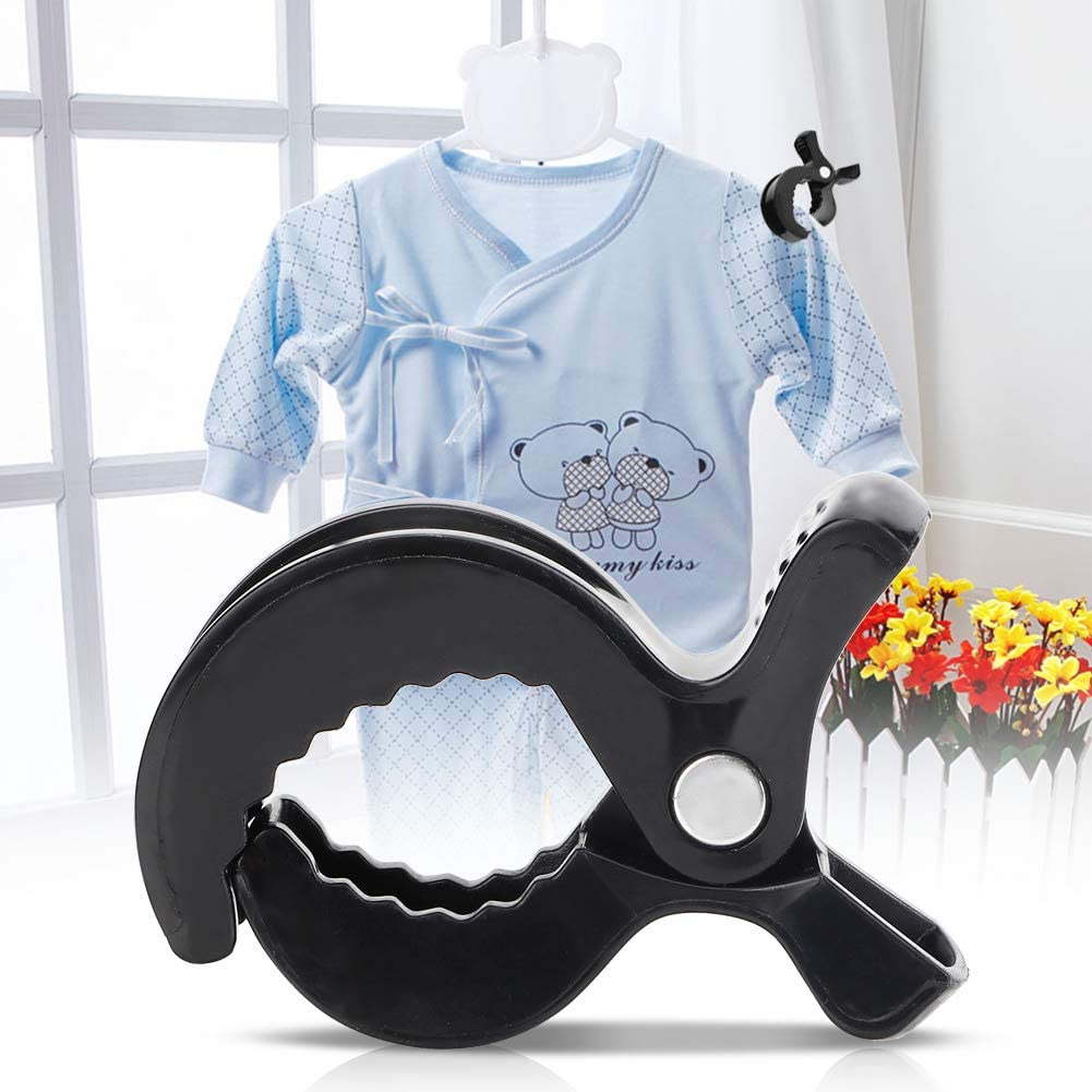 10Pcs Baby Stroller Clips Pushchair Cover Plastic Fasteners Clips Blanket Security Clamps Gift for Infant or Babies Black