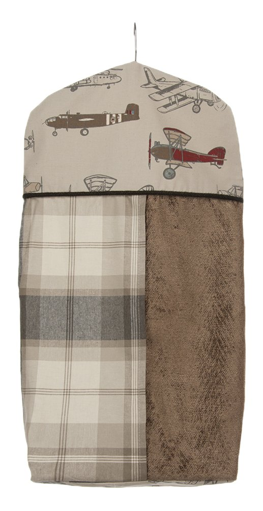 Glenna Jean Fly-by Diaper Stacker, Taupe/Grey/Blue/Brown/Red by Glenna Jean
