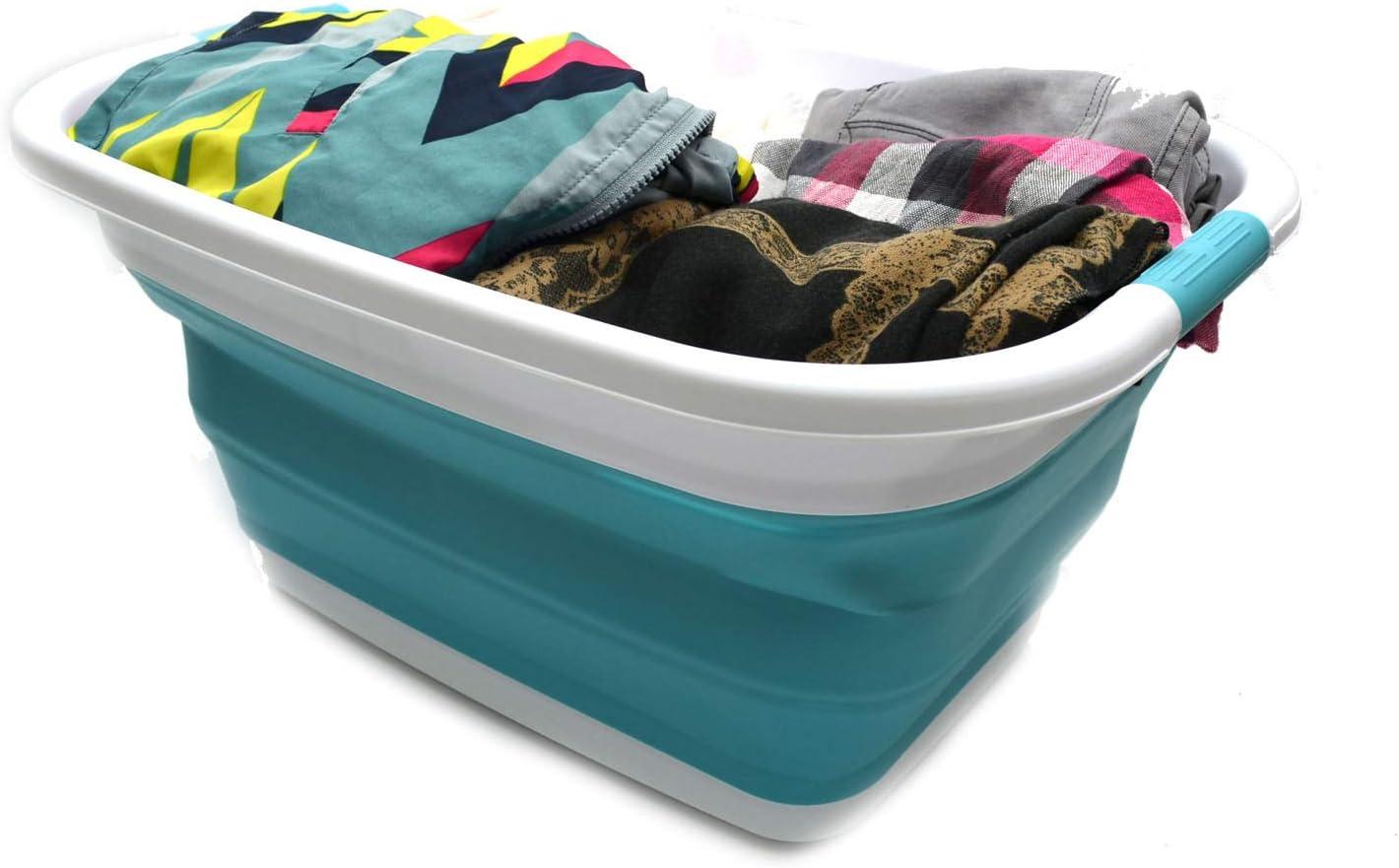 fedsjuihyg Impermeable Plegable de lavander/ía Cesto de Cubo sucios de Ropa de lavander/ía Cesta Compartimiento de almacenaje del Organizador de Juguete Colecci/ón E Estilo