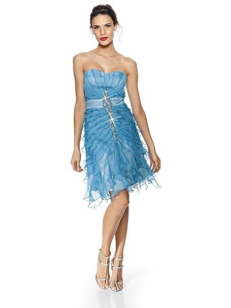 Vestiti Eleganti Taglia 36.Donna Elegante Per Cocktail Vestito Con Decorazione Pietra E