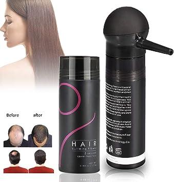 Fibres De Cheveux, Poudre De Cheveux 5 Couleurs Professionnel Perte De Cheveux Solution Correcteur Pour Éclaircir Cheveux Vaporisateur Pour Femmes Et