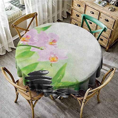 - Rank-T Restaurant Living Room Round Tablecloth 47