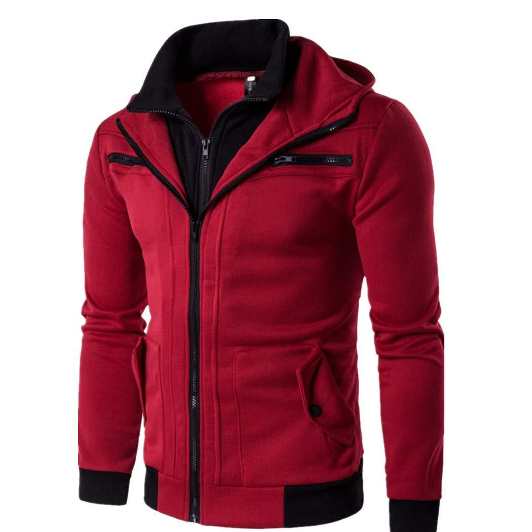 Men's Zipper Thermal Hoodie Warm Coats Autumn Winter Casual Fashion Tops Men' s coat No.1