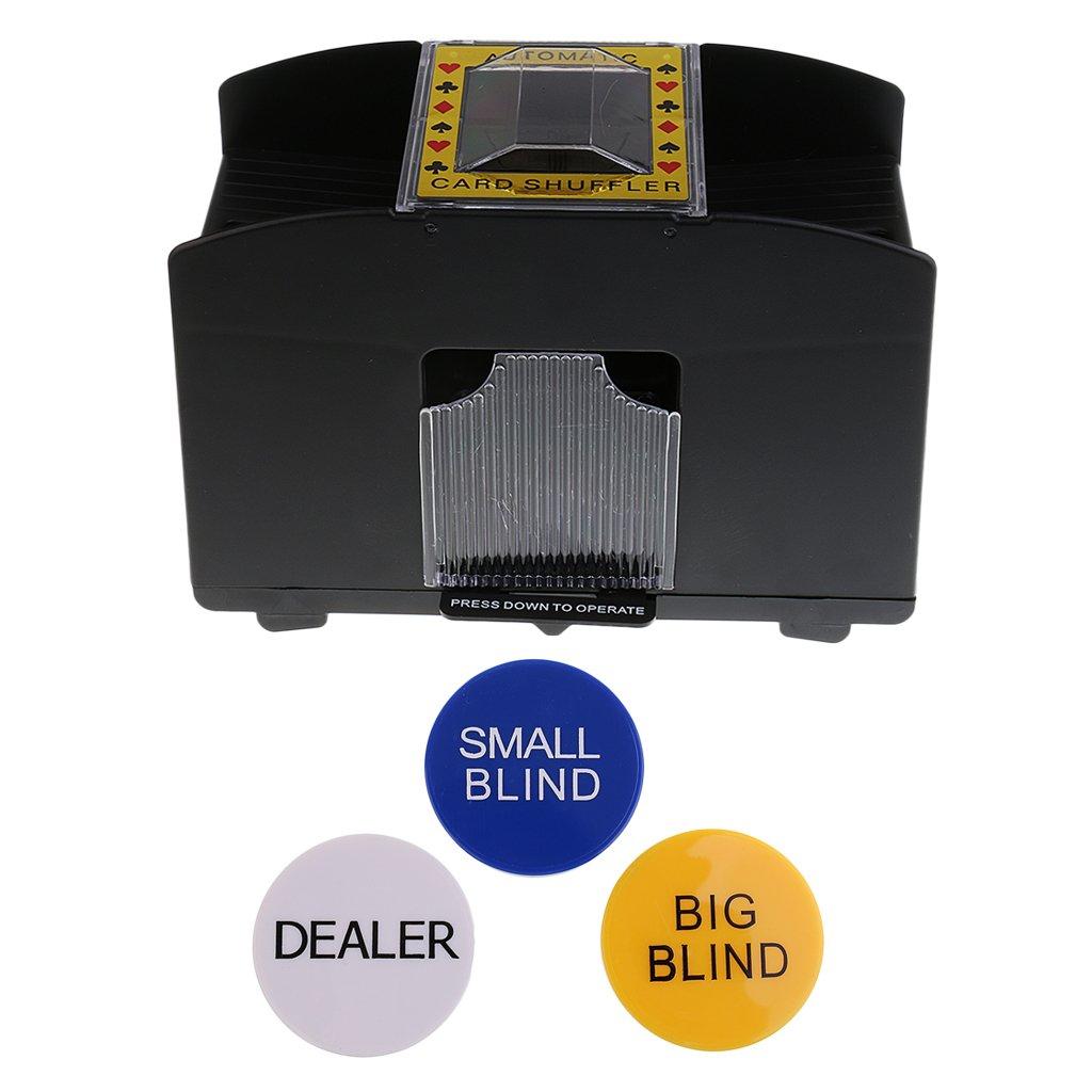 Baoblaze Casino Game 4 Deck Automatic Card Shuffler Machine Poker Accessory+Dealer #1