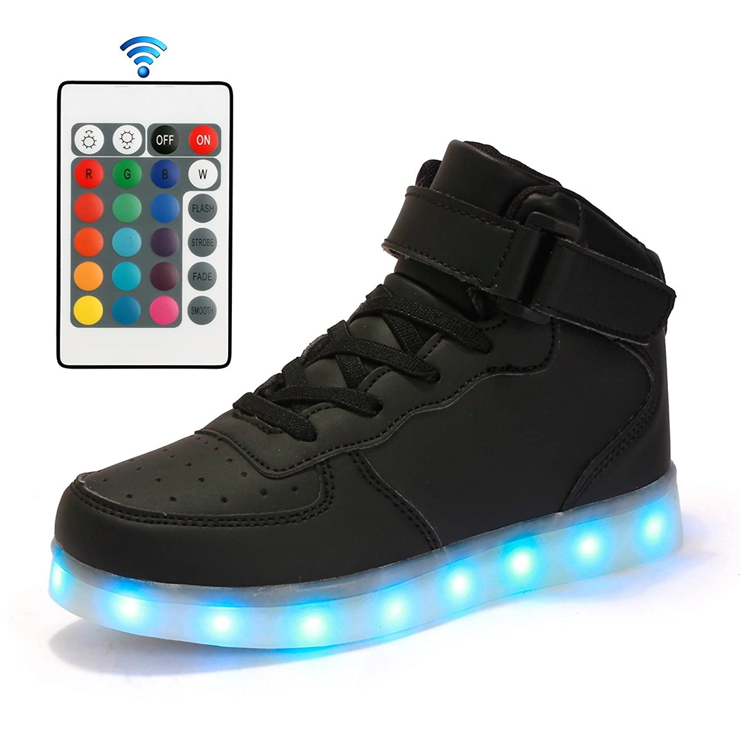 98e66bd93f 50%OFF Qkettle Kids 20 Models LED Shoes Boys Girls Light Up Sneakers With  Remote Control