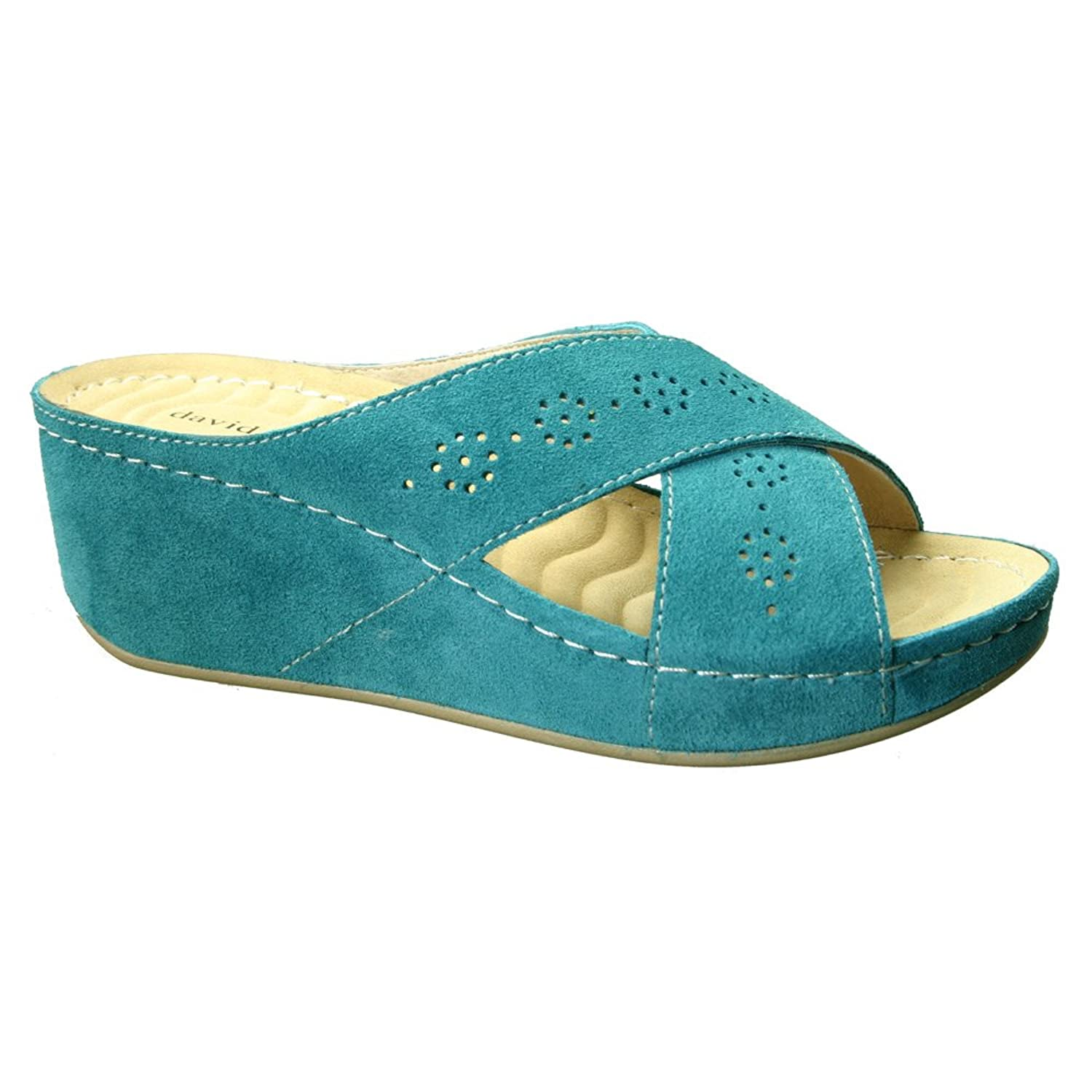 David Tate Womens Savanah Wedge Slide