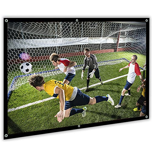 Portable Projector Screen, 100 inch Movie Projector Screen 16:9 HD for Home Theater Outdoor Indoor Office, Upgrade Material by MCWT
