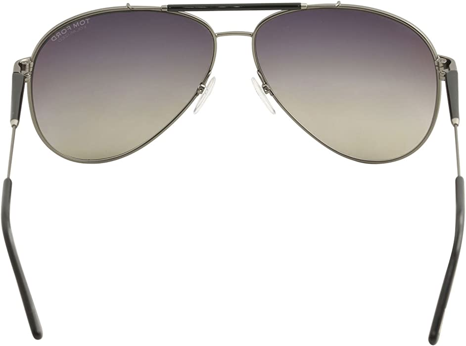 103883ff9b5 Tom Ford Rick Aviator Sunglasses in Shiny Light Nickeltin Polarised FT0378  10D 60. Back. Double-tap to zoom