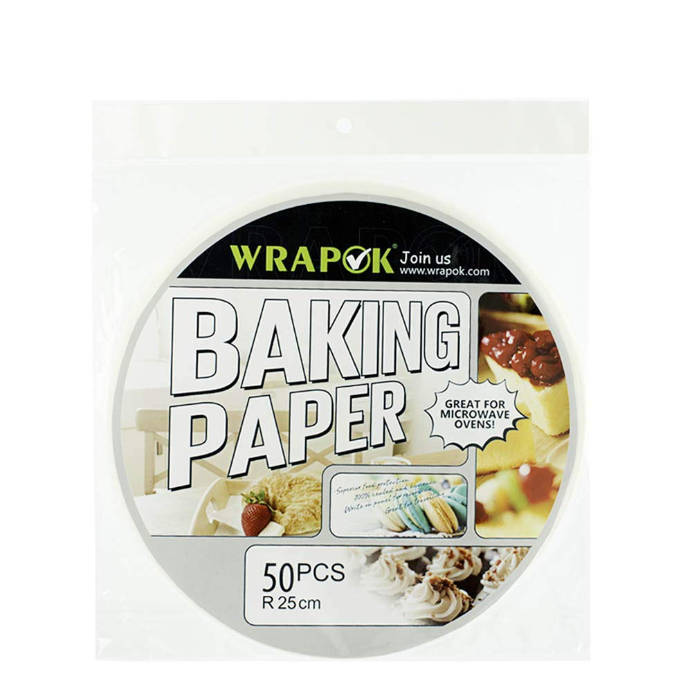 WRAPOK Air Fryer Liner 6 inch Round Perforated Parchment Bamboo Steamer Paper 50 Count Non-stick for Baking Steaming Basket Cooking Cake Pans Circle