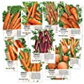 Carrot Lovers Seed Collection (9 Individual Seed Packets) Non-GMO Seeds by Seed Needs
