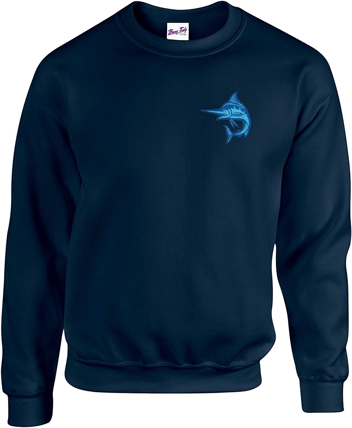 Bang Tidy Clothing Marlin Fishing Sweatshirts Fisherman Gifts Embroidered Fish Sweatshirt Jumper