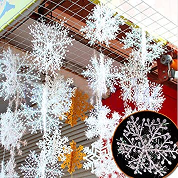 30pcs white snowflake christmas ornaments holiday festival party home decor decoracion navidad new year gift - Amazon Christmas Home Decor
