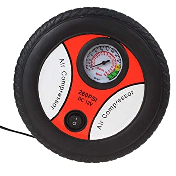 Jelinda Bomba infladora de Aire, compresor de Aire de presión con medidor de presión,