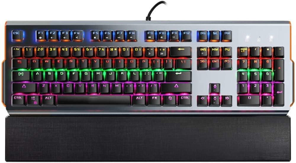 Black DADUIZHANG Profession Game Mechanical Keyboard 104 Key Wired RGB Blue Switch Led Backlit Gaming Keyboard for Pc Laptop