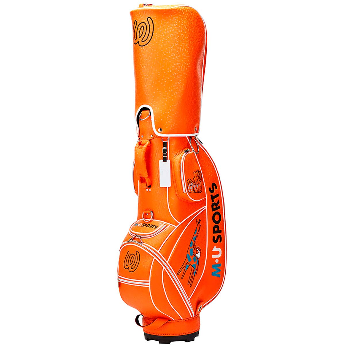 MU SPORTS(エム ユースポーツ) キャディーバッグ 2019SSシリーズ アニマル柄キャディバッグ オレンジ 703P2100 オレンジ B07Q6PTFSH
