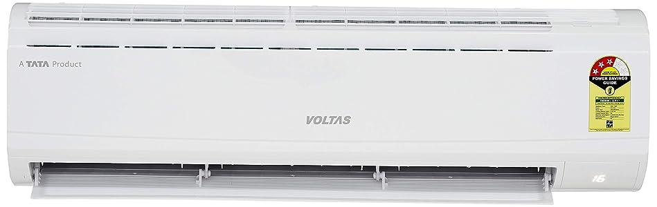 Voltas 1.5 Ton 3 Star Split AC – White  (183 DZZ, R22, Copper Condenser)