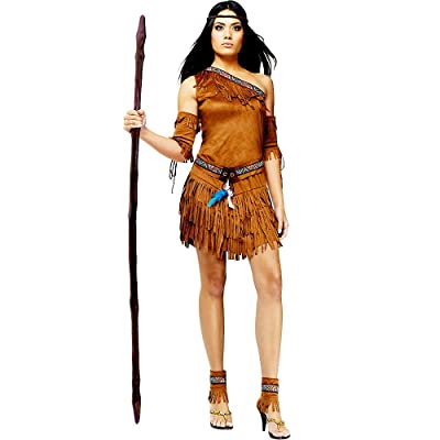 Fun World Women's Pow Wow Native American Costume: Clothing