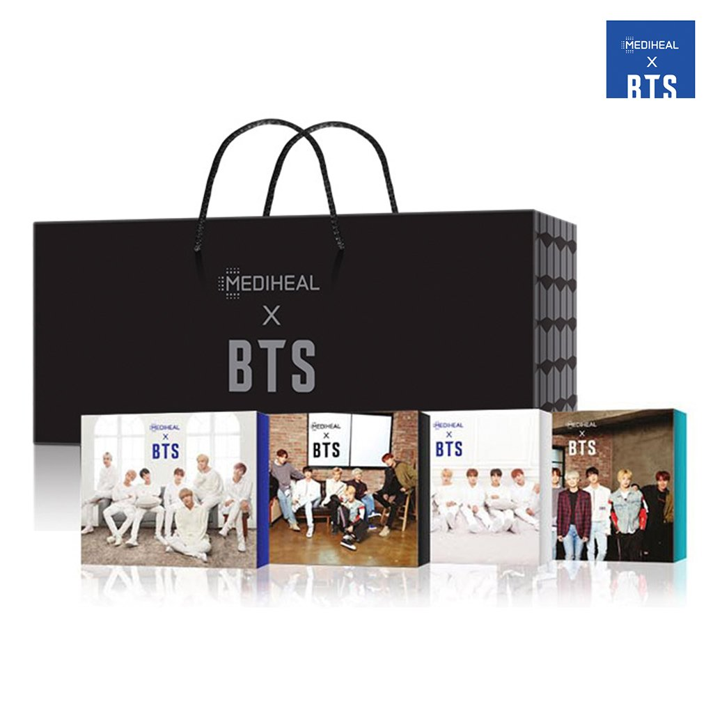 [MEDIHEAL] MEDIHEAL X BTS Facial Mask Sheet Special Set/Mask Sheet 10ea + BTS Photocard 14ea (4-Edition Package)