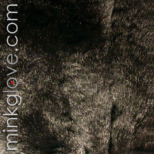 MinkgLove Black Rex Rabbit Pillow Cushion Cover 16'' (41cm) - Single Sided Fur