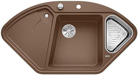 Blanco Delta II, Eckspüle, Küchenspüle Aus Silgranit PuraDur, Muskat/mit  InFino