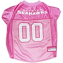 NFL SEATTLE SEAHAWKS DOG Jersey Pink, Large. - Football Pet Jersey in PINK