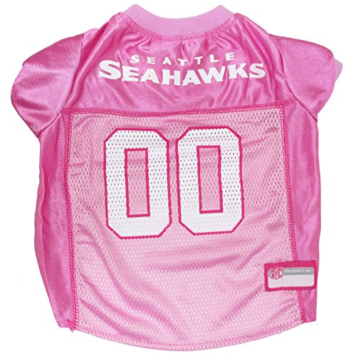 Pets First NFL Seattle Seahawks Jersey, X-Small, Pink