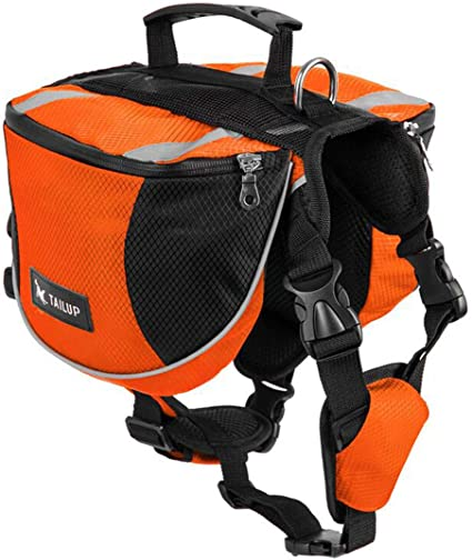 schnappy Dog Pack Travel Camping Hiking Backpack Saddle Bag for Small /& Medium /& Large Dogs