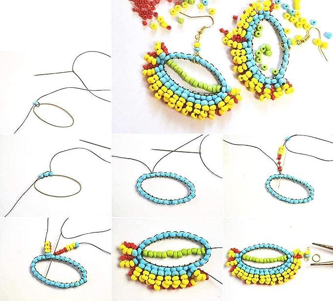 24000 St/ück 24 Farben Mini Glasperlen 2mm Glasperlen Distanz Perlen Mit 24-Gitter Aufbewahrungsbox f/ür Schmuckherstellung
