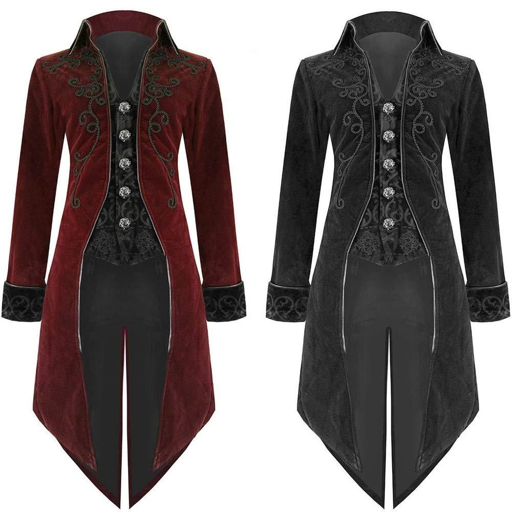 Ropa de Abrigo, JiaMeng Moda Chaqueta de Sastre Goth Steampunk Uniforme Traje Praty Outwear Escudo: Amazon.es: Ropa y accesorios