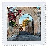 3dRose Danita Delimont - Architecture - Spain, Balearic Islands, Mallorca, church gateway. - 12x12 inch quilt square (qs_277909_4)