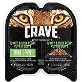 CRAVE Grain Free Adult Wet Cat Food Turkey & Duck Recipe Cuts in Gravy, (24) 2.6 oz. Twin-Pack Trays