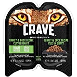 Crave Grain Free Adult Wet Cat Food Turkey & Duck Recipe Cuts In Gravy, (24) 2.6 Oz. Twin-Pack Trays Larger Image