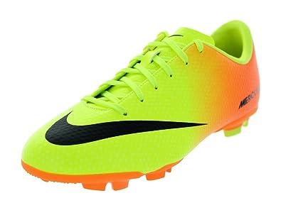 Nike Kids JR Mercurial Victory IV FG Soccer Cleats Volt Black Bright Citrus  4.5 4ece3b3ed0abe