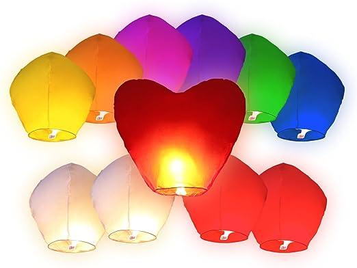 8 opinioni per 11 PZ Lanterne cinesi volanti (10 PZ lanterne multicolore Misti + 1 lanterna